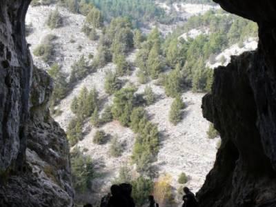 Cueva Negra - Senderismo Cañón del Río Lobos - espeleología; puente de octubre